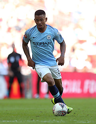 Manchester City'€™s Gabriel Jesus in action