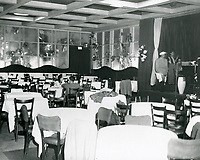 1950 Interior of Ciro's Nightclub on Sunset Blvd. in West Hollywood