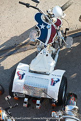 An Astros trike just after the team won the world series, on the Strand during the Lone Star Rally. Galveston, TX. USA. Saturday November 4, 2017. Photography ©2017 Michael Lichter.