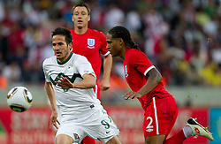 Zlatan Ljubijankic of Slovenia vs Glen Johnson of England during the 2010 FIFA World Cup South Africa Group C Third Round match between Slovenia and England on June 23, 2010 at Nelson Mandela Bay Stadium, Port Elizabeth, South Africa. England defeated Slovenia 1-0 and qualified for the next round, Slovenia not. (Photo by Vid Ponikvar / Sportida)