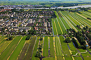 Nederland, Utrecht, Lopik, 23-05-2011;.Dorp Lopik aan de rivier de Lek in polderlandschap. Village Lopik on the river Lek in polder with drainage ditches. . luchtfoto (toeslag), aerial photo (additional fee required).copyright foto/photo Siebe Swart