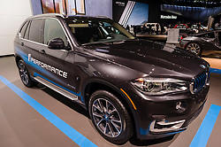 NEW YORK, USA - MARCH 23, 2016: BMW X5 xDrive40e on display during the New York International Auto Show at the Jacob Javits Center.