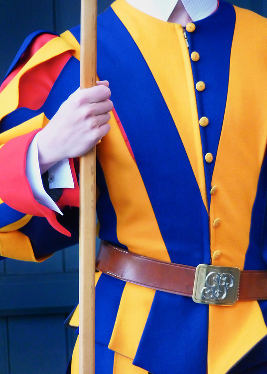 The Swiss Guard at the Vatican have fascinated me for many years.  While in Rome, and visiting the Vatican, I was fortunate to see and photograph a few of their ranks.