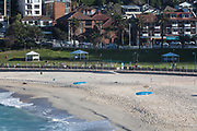 Sydney, Australia. Sunday 3rd May 2020. Bronte Beach in Sydney's eastern suburbs.The beach is now open to surfers and swimmers but no sitting or sunbathing  is allowed due to the COVID-19 pandemic.