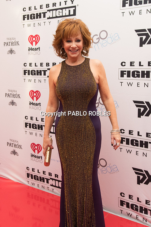 Reba McEntire attend the Celebrity Fight Night event on March 23, 2019 in Scottsdale, AZ.