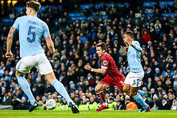 Joe Bryan of Bristol City is challenged by Danilo of Manchester City - Rogan/JMP - 09/01/2018 - Etihad Stadium - Manchester, England - Manchester City v Bristol City - Carabao Cup Semi Final First Leg.
