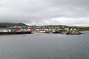 Portmagee fishing village where passengers leave for the 12km trip  to the eorld heritage monastic site at Skelligs Rocks..Picture by Don MacMonagle