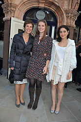 Left to right, GEORGINA ANDREWS and her daughters SAMI and JESSICA at the 10th anniversary of George in association with The Dog's Trust held at George, 87-88 Mount Street, Mayfair, London on 13th September 2011.