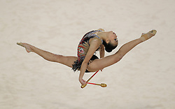 Malaysia's Kwan Dict Weng in the individual clubs section in the Rhythmic Gymnastics Individual Final at the Coomera Indoor Sports Centre during day nine of the 2018 Commonwealth Games in the Gold Coast, Australia.