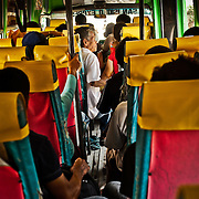 A crowded local bus, Palawan, Philippines