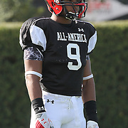 James Vaughters during the practice session at the Walt Disney Wide World of Sports Complex in preparation for the Under Armour All-America high school football game on December 3, 2011 in Lake Buena Vista, Florida. (AP Photo/Alex Menendez)