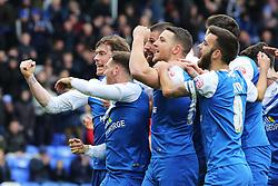 Peterborough United's Michael Bostwick celebrates scoring his goal with team-mates - Photo mandatory by-line: Joe Dent/JMP - Mobile: 07966 386802 - 21/03/2015 - SPORT - Football - Peterborough - ABAX Stadium - Peterborough United v Chesterfield - Sky Bet League One