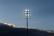Floodlights at the Pirelli Stadium during the EFL Sky Bet League 1 match between Burton Albion and Oxford United at the Pirelli Stadium, Burton upon Trent, England on 2 February 2019.