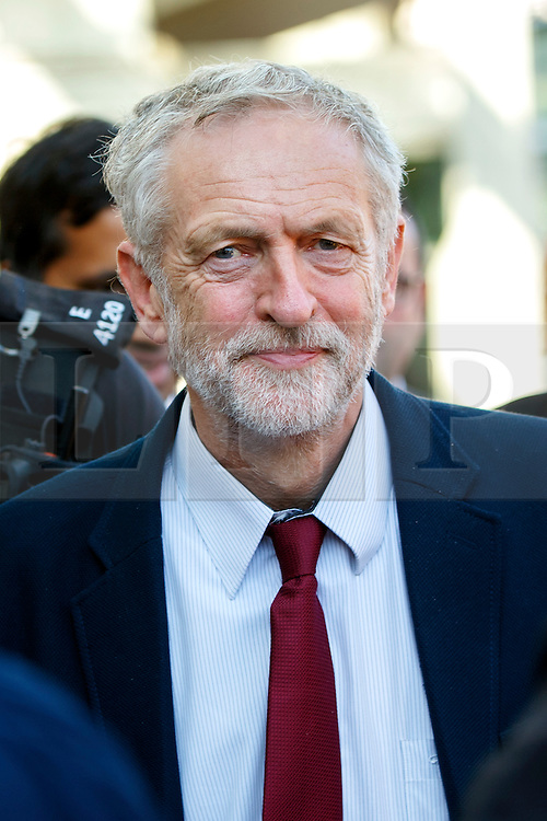 © Licensed to London News Pictures. 01/10/2015. Edinburgh, UK. Leader of Labour Party Jeremy Corbyn visiting Scottish Parliament in Edinburgh on Thursday, 1 October 2015 whilst making his first visit to Scotland as leader of the UK Labour Party. Photo credit: Tolga Akmen/LNP