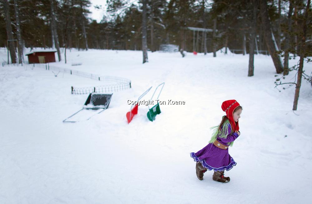 Sami girl in Finland
