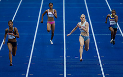 (L-R) Muna Lee of USA, Beatriz Mangue of Geq, Pia Tajnikar of Slovenia  and Pauline Kwalea of Sol compete in the women's 100 Metres Heats during day two of the 12th 2009 IAAF Athletics World Championships on August 16, 2009 in Berlin, Germany. (Photo by Vid Ponikvar / Sportida)