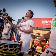 © Maria Muina I MAPFRE. Alicante Race Village opening ceremony. Ceremonia de apertura del Race Village de Alicante. Batucada frente a la base del MAPFRE.