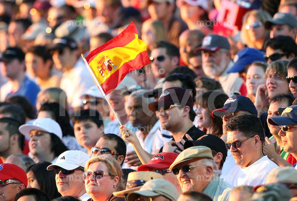 Fussball International U 20 WM  Sambia 1-2 Spanien Spanische Fahne