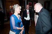 THE DUCHESS OF GLOUCESTER; CHARLES SAUMERAZ-SMITH; SIR NICHOLAS GRIMSHAW; PRA, Annual Dinner. Royal Academy of Arts. Piccadilly. London. 8 June 2010. -DO NOT ARCHIVE-© Copyright Photograph by Dafydd Jones. 248 Clapham Rd. London SW9 0PZ. Tel 0207 820 0771. www.dafjones.com.