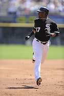 CHICAGO - AUGUST 14:  Ken Griffey Jr. #17 of the Chicago White Sox runs toward third base during the game against the Kansas City Royals at U.S. Cellular Field in Chicago, Illinois on August 14, 2008.  The White Sox defeated the Royals 9-2.  (Photo by Ron Vesely)