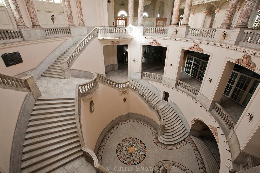 Staircases in Gran Teatro, Havana, Cuba