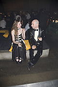 Emily Richards and Mathias Wint, 130 Years Of Veuve Clicquot Yellow, The Wapping Project, Wapping Wall, London, E1,13 November 2007. -DO NOT ARCHIVE-© Copyright Photograph by Dafydd Jones. 248 Clapham Rd. London SW9 0PZ. Tel 0207 820 0771. www.dafjones.com.