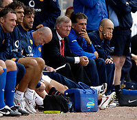 Fotball<br /> England 2005/2006<br /> Foto: SBI/Digitalsport<br /> NORWAY ONLY<br /> <br /> Clyde v Manchester United, Preseason Friendly. 16/07/2005.<br /> <br /> The Manchester United bench looks on.