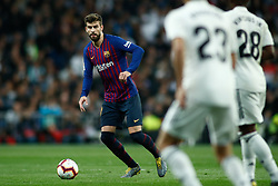 March 2, 2019 - Madrid, MADRID, SPAIN - Gerard Pique of FC Barcelona during the spanish league, La Liga, football match played between Real Madrid and FC Barcelona at Santiago Bernabeu Stadium in Madrid, Spain, on March 02, 2019. (Credit Image: © AFP7 via ZUMA Wire)