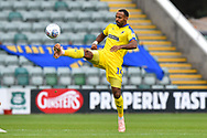 Liam Trotter (14) of AFC Wimbledon controls the ball during the EFL Sky Bet League 1 match between Plymouth Argyle and AFC Wimbledon at Home Park, Plymouth, England on 6 October 2018.