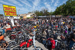 Chopper Time annual old school chopper show at Willie's Tropical Tattoo in Ormond Beach during Daytona Beach Bike Week, FL. USA. Thursday, March 14, 2019. Photography ©2019 Michael Lichter.