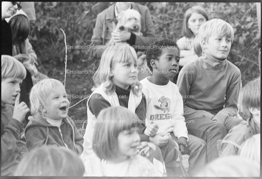 """Renaissance Faire, November 1, 1969"" (The first Oregon Country Fair) Eugene, Oregon."