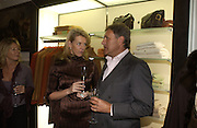 Fiona Sleeman and Christopher Leigh-Pemberton. Charles Finch and Dr. Franco Beretta host launch of Beretta stor at 36 St. James St. London. 10  January 2006. ONE TIME USE ONLY - DO NOT ARCHIVE  © Copyright Photograph by Dafydd Jones 66 Stockwell Park Rd. London SW9 0DA Tel 020 7733 0108 www.dafjones.com