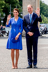 Britain's Prince William; Duke of Cambridge, and his wife Catherine, Duchess of Cambridge, seen during a visit to the Brandenburg Gate in Berlin, Germany, 19 July 2017. Photo by Robin Utrecht/ABACAPRESS.COM