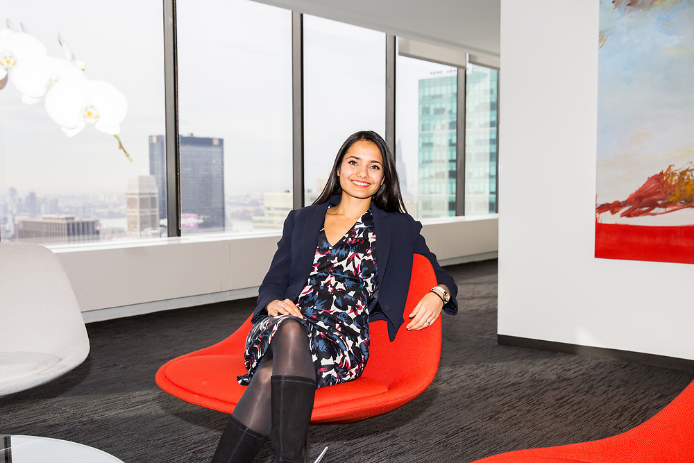 A manager at Bain & Company inside their New York City office.
