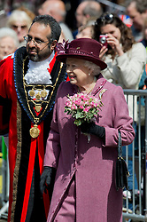 © London News Pictures. 30/04/2012. London, UK. HRH The Queen Elizabeth II  on a walk from Windsor Castle to the Guildhall, Windsor, Berkshire on April 30, 2012, where she attended a Diamond Jubilee reception. Photo credit : Ben Cawthra /LNP