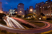 Sao Paulo_SP, Brasil...Avenida Prestes Maia com a Praca da Bandeira ao fundo...The Prestes Maia avenue in Sao Paulo with the Bandeira square in the background...Foto: MARCUS DESIMONI /  NITRO