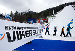 Poster for Vikersund 2011, Norway at Closing ceremony after Flying Hill Team Second Round at 4th day of FIS Ski Flying World Championships Planica 2010, on March 21, 2010, Planica, Slovenia.  (Photo by Vid Ponikvar / Sportida)
