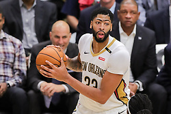 October 23, 2018 - New Orleans, LA, U.S. - NEW ORLEANS, LA - OCTOBER 23: New Orleans Pelicans forward Anthony Davis (23) looks to pass against LA Clippers on October 23, 2018, at Smoothie King Center in New Orleans, LA. (Photo by Stephen Lew/Icon Sportswire) (Credit Image: © Stephen Lew/Icon SMI via ZUMA Press)