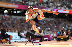 Great Britain's Ashley Bryant competes in the Men's Decathlon Long Jump during day eight of the 2017 IAAF World Championships at the London Stadium.