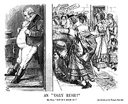 """An """"Ugly Rush!"""" Mr. Bull. """"Not if I know it!"""" See division on the Women's Vote Bill."""