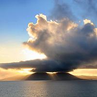 Sunset over Bolus Head, Ballinskelligs, County Kerry Ireland / wv028