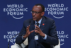TIANJIN, Sept. 11, 2012  Paul Kagame, President of Rwanda, addresses an interactive session titled ''Championing Competitiveness'' during the World Economic Forum Annual Meeting of the New Champions 2012 in Tianjin, north China, Sept. 11, 2012. The Annual Meeting of the New Champions 2012 opened here on Tuesday with the theme of ''Creating the Future Economy''. (Xinhua/Wang Shen) (Credit Image: © Xinhua via ZUMA Wire)