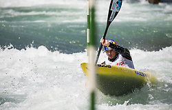 Peter Kauzer of Slovenia competes in Kayak (K1) Men during International Slalom Kayak-Canoe competition, on May 6, 2018 in Tacen, Ljubljana, Slovenia. Photo by Vid Ponikvar / Sportida