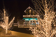 Taos Ski Valley lit up for holidays