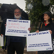 Zarah Sultana is a British Labour Party politician show support protection of the Rent campaigners demand 'no evictions' pledge for private renting better, not worst at Old Place Yard, London, UK. 2019-09-14.