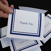AJGA players write thank you cards to tournament officials following their round.
