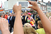 Zijne Majesteit Koning Willem-Alexander en Hare Majesteit Koningin Máxima bezoeken de provincie Flevoland.Koning en Koningin vertrekken uit Emmeloord<br /> <br /> His Majesty King Willem-Alexander and Máxima Her Majesty Queen visits the province of Flevoland.King and Queen lerave Emmeloord