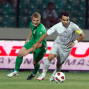 Bursaspor's Volkan SEN (R) during their UEFA Europa League Third qualifying round, First leg soccer match Bursaspor between Gomel at the Ataturk stadium in Bursa Turkey on Thursday 28 July 2011. Photo by TURKPIX
