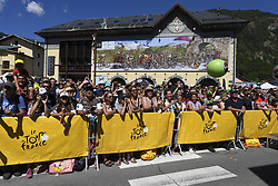 July 19, 2018 - Alpe D Huez, France - ALPE D'HUEZ, FRANCE - JULY 19 :  Illustration picture of fans during stage 12 of the 105th edition of the 2018 Tour de France cycling race, a stage of 175.5 kms between Bourg-Saint-Maurice Les Arcs and Alpe D'huez on July 19, 2018 in Alpe D'huez, France, 19/07/2018 (Credit Image: © Panoramic via ZUMA Press)