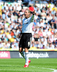 Derby County's Robbie Savage plays his last game at Pride Park before retiring from football - Photo mandatory by-line: Joe Meredith/JMP - 30/04/2011 - SPORT - FOOTBALL - Championship - Derby County v Bristol City  - Pride Park, Derby, England